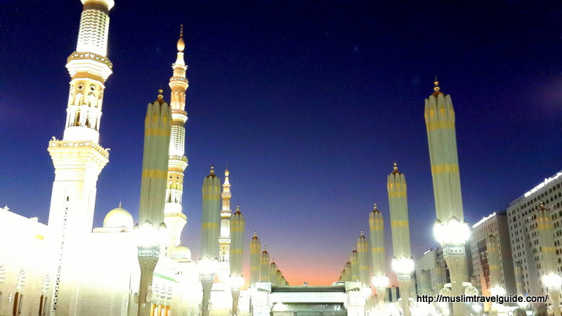 The Prophet SAW's masjid at sunset
