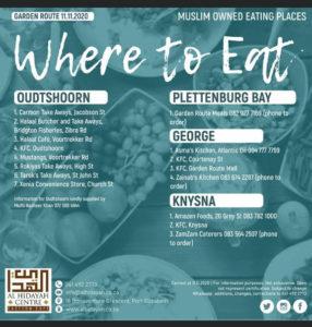Halaal food in Garden Route