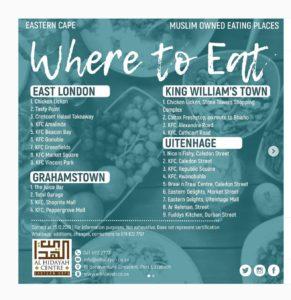 Halaal food Eastern Cape